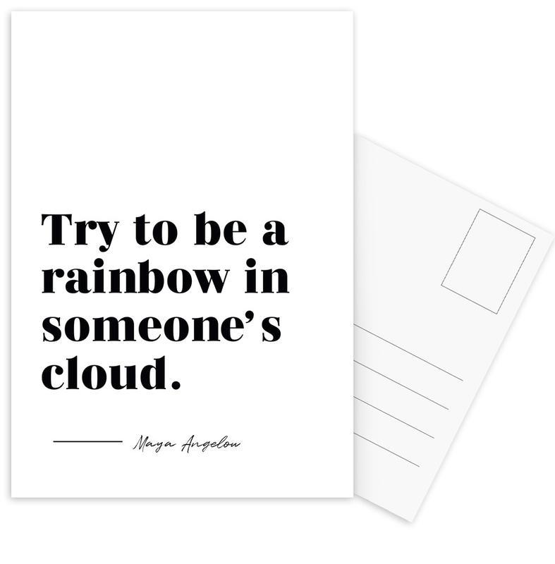 Rainbow -Postkartenset