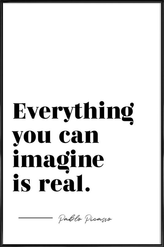 Everything is Real -Bild mit Kunststoffrahmen