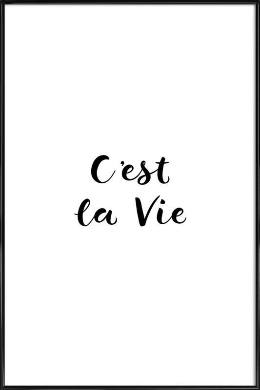 C'est la Vie affiche encadrée