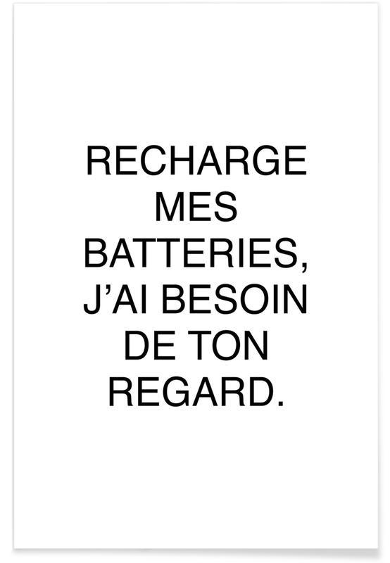 Zitate & Slogans, Ton regard -Poster