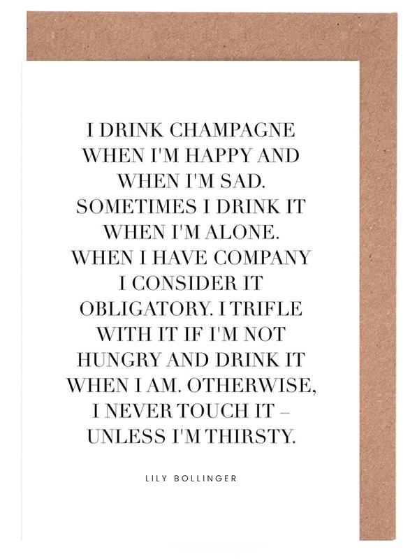 Champagne -Grußkarten-Set
