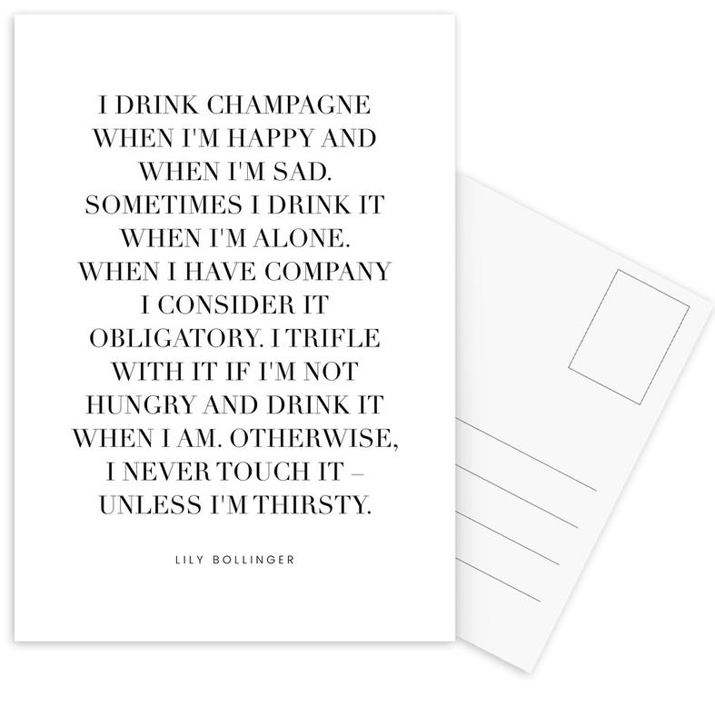 Champagne Postcard Set