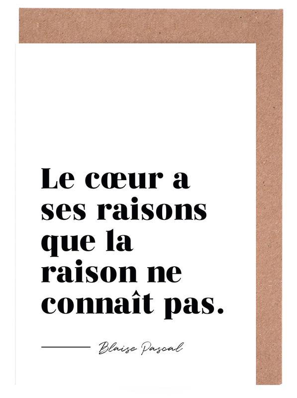 Zitate & Slogans, Le cœur a ses raisons -Grußkarten-Set