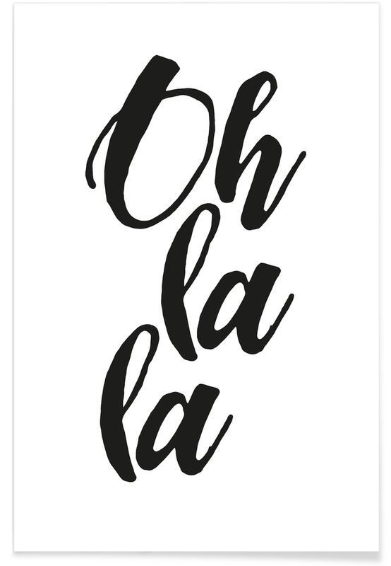 Schwarz & Weiß, Oh la la -Poster