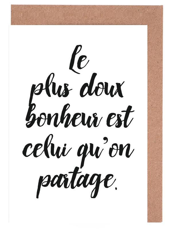 Zitate & Slogans, Doux bonheur -Grußkarten-Set