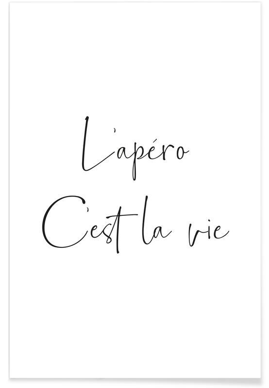 Zitate & Slogans, L'apéro Trop courte -Poster
