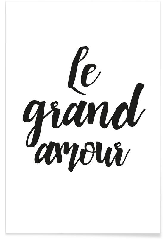 Schwarz & Weiß, Le grand amour -Poster