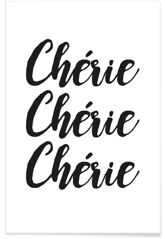 Schwarz & Weiß, Chérie -Poster
