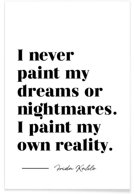 Noir & blanc, Motivation, Citations et slogans, Paint Reality affiche