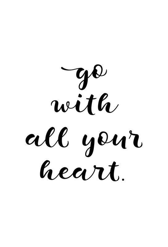 All Your Heart tableau en verre