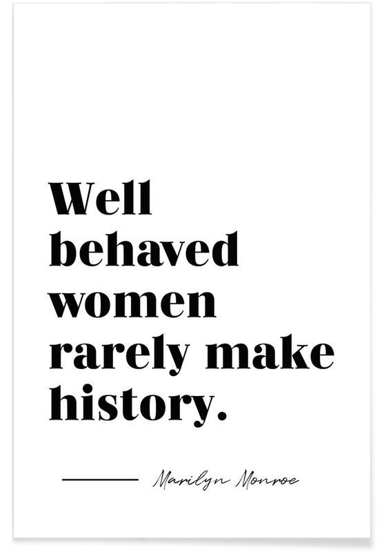 Quotes & Slogans, Make History Poster