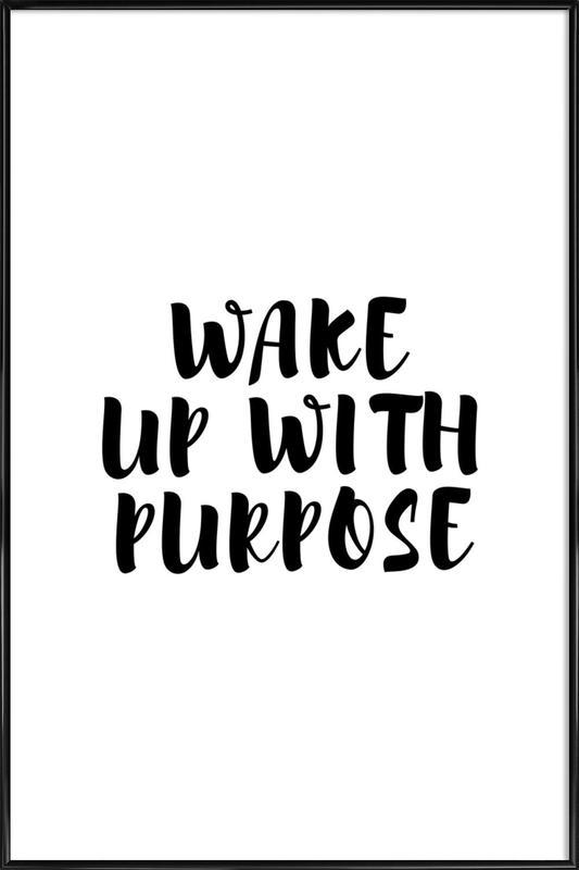 Wake Up affiche encadrée