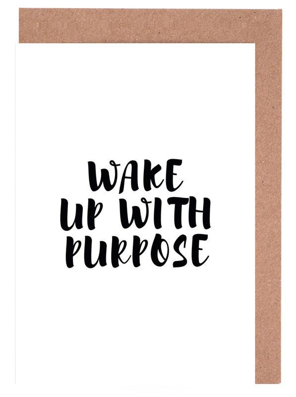 Schwarz & Weiß, Motivation, Wake Up -Grußkarten-Set