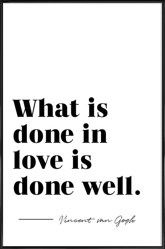 Done in Love affiche encadrée