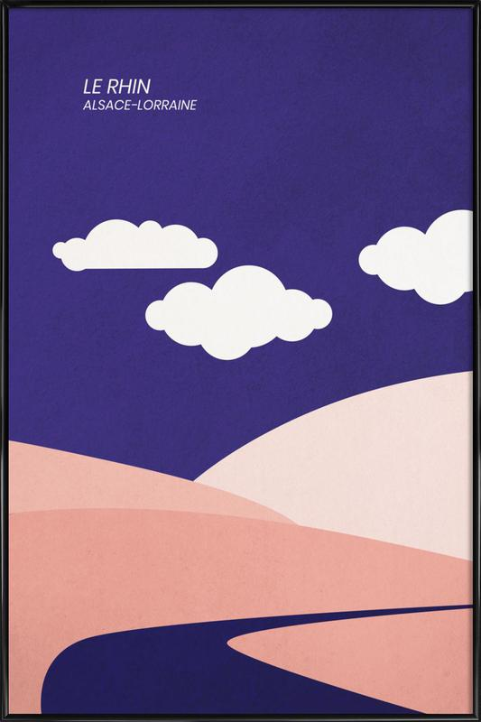 Le Rhin Poster i standardram