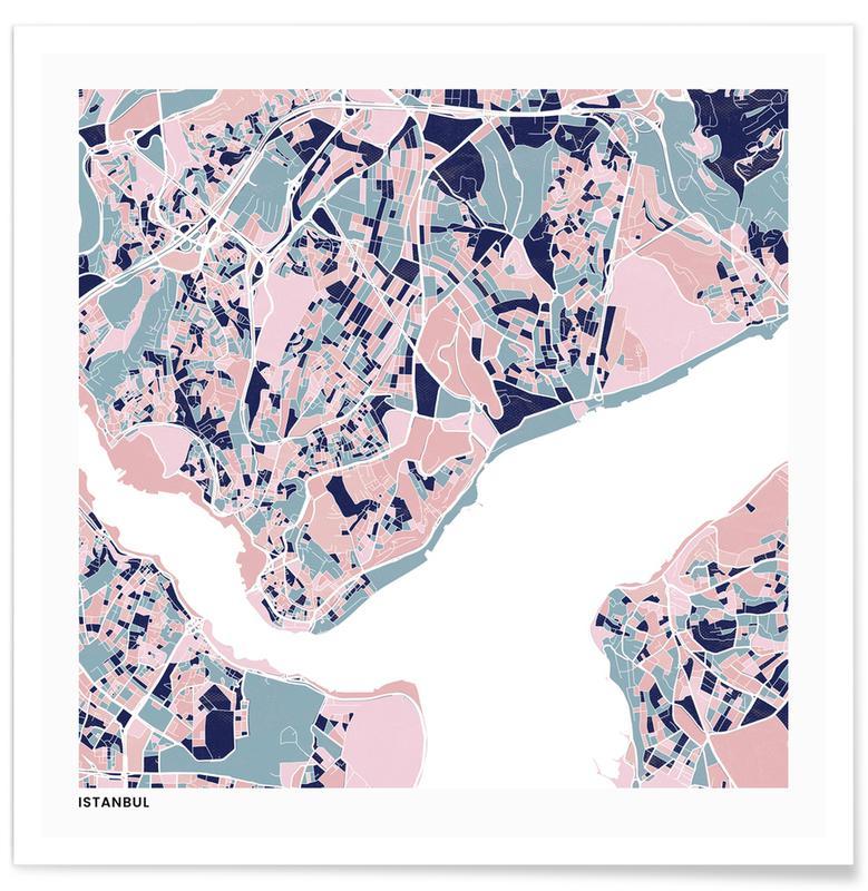Cartes de villes, Istanbul III affiche