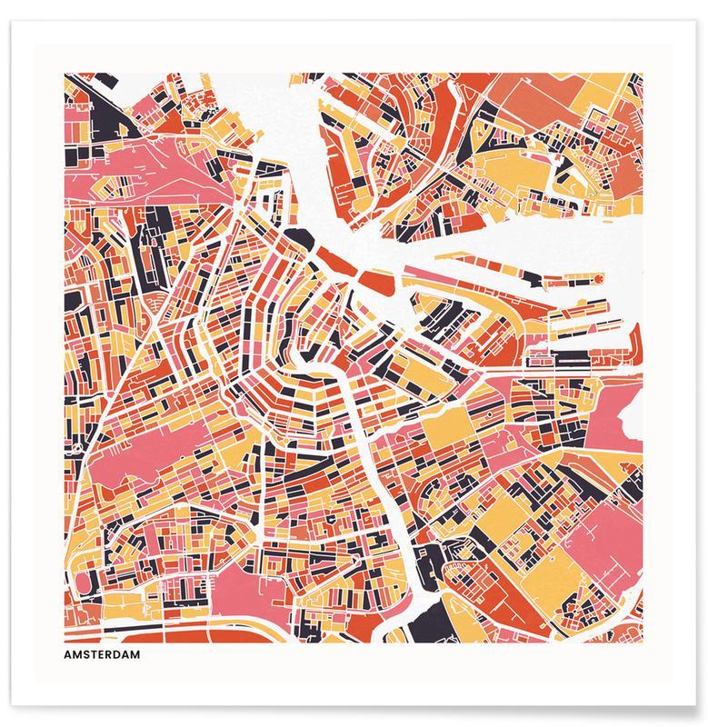 Stadtpläne, Amsterdam II -Poster