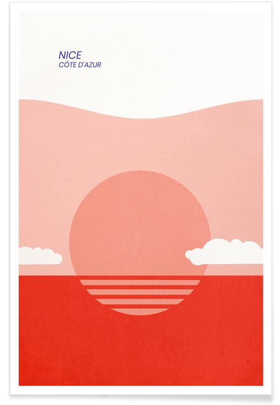 Oceani, laghi & paesaggi marini, Paesaggi astratti, Nice poster