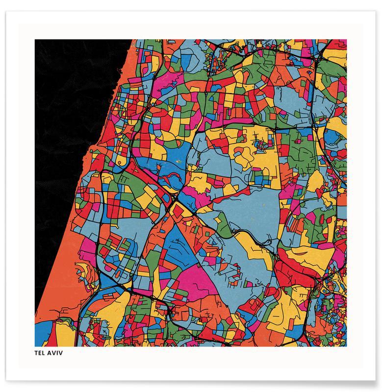 City Maps, Tel Aviv Poster