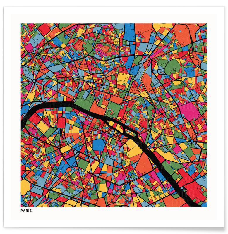 City Maps, Paris Poster