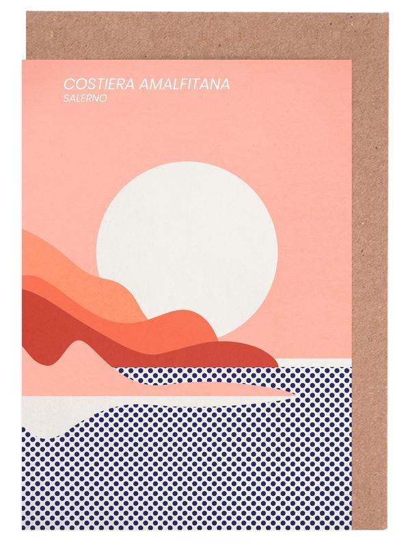 Ocean, Lake & Seascape, Abstract Landscapes, Travel, Amalfi Coast Greeting Card Set