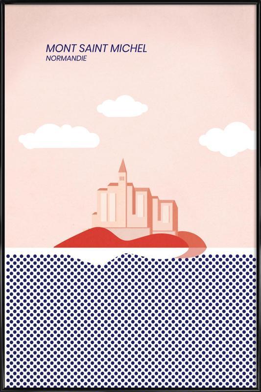 Mont Saint Michel -Bild mit Kunststoffrahmen