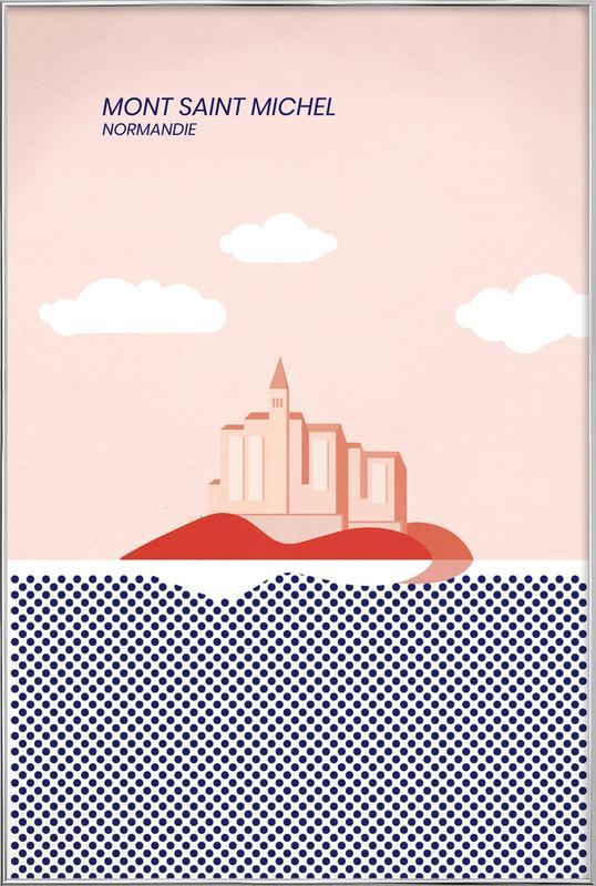 Mont Saint Michel poster in aluminium lijst