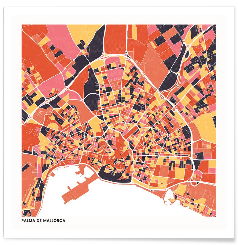Cartes de villes, Palma de Mallorca II affiche