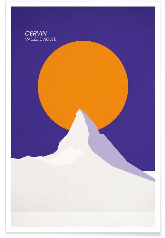 Abstrakte landskaber, Seværdigheder & landmærker, Bjerge, Cervin Plakat