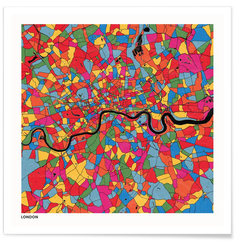 City Maps, London Poster