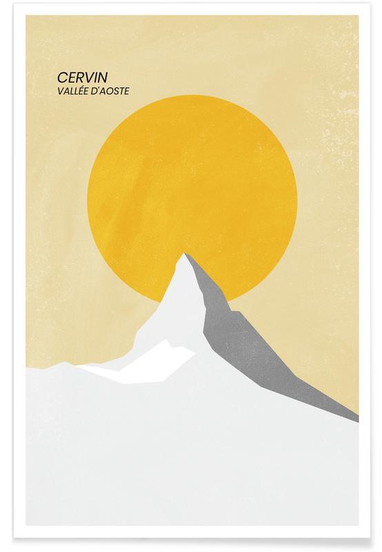 Montagnes, Matterhorn affiche