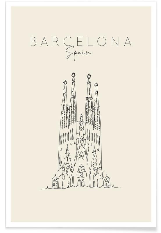 Barcelona, Reise, Barcelona -Poster