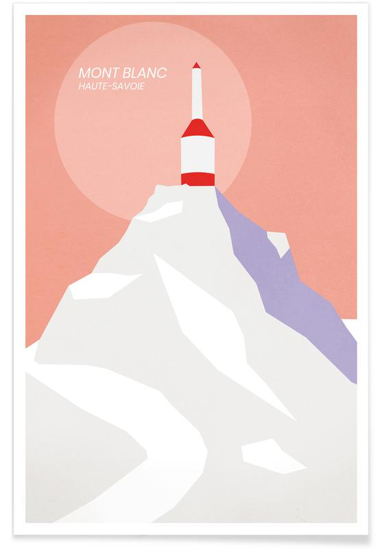 Paysages abstraits, Monuments et vues, Montagnes, Mont Blanc affiche