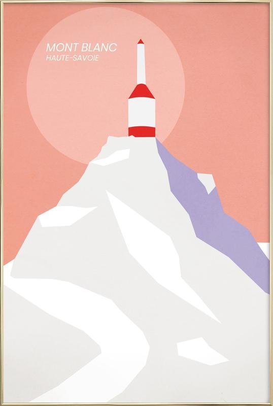 Mont Blanc Poster in Aluminium Frame