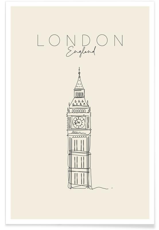 Londres, Voyages, London affiche