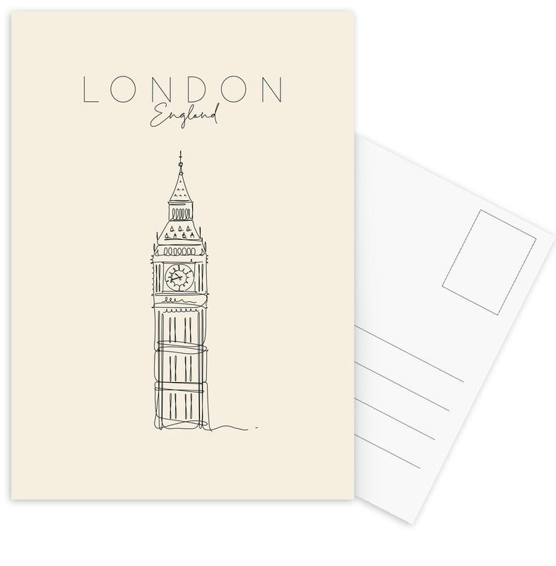 London, Travel, London Postcard Set