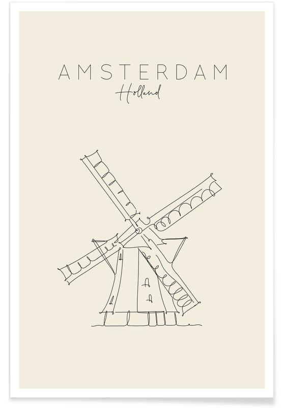 Amsterdam, Travel, Amsterdam Poster