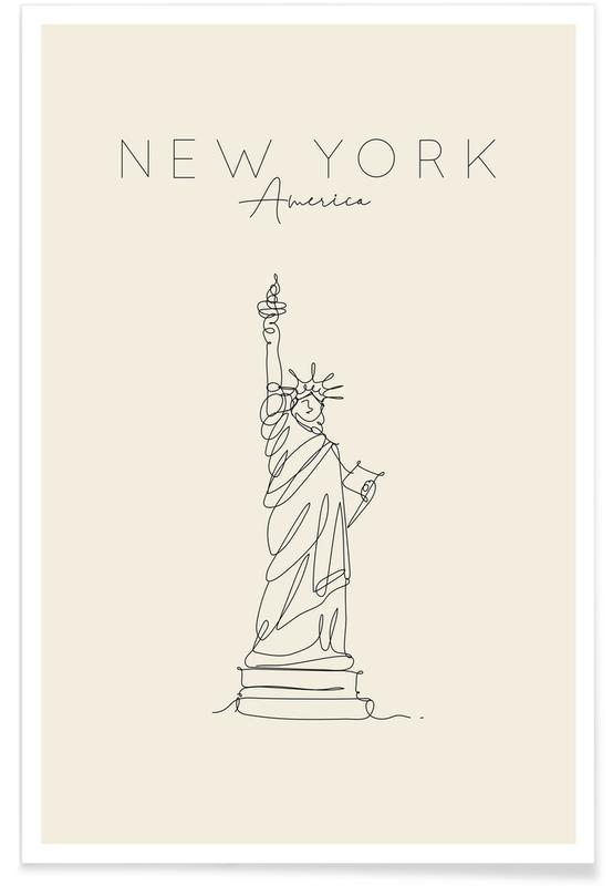 New York, Voyages, New York affiche
