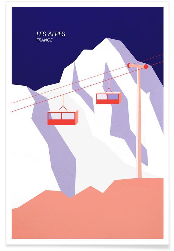 Paysages abstraits, Monuments et vues, Montagnes, Les Alpes affiche
