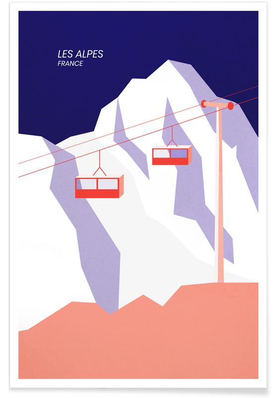 Montagne, Paesaggi astratti, Vedute & monumenti, Les Alpes poster