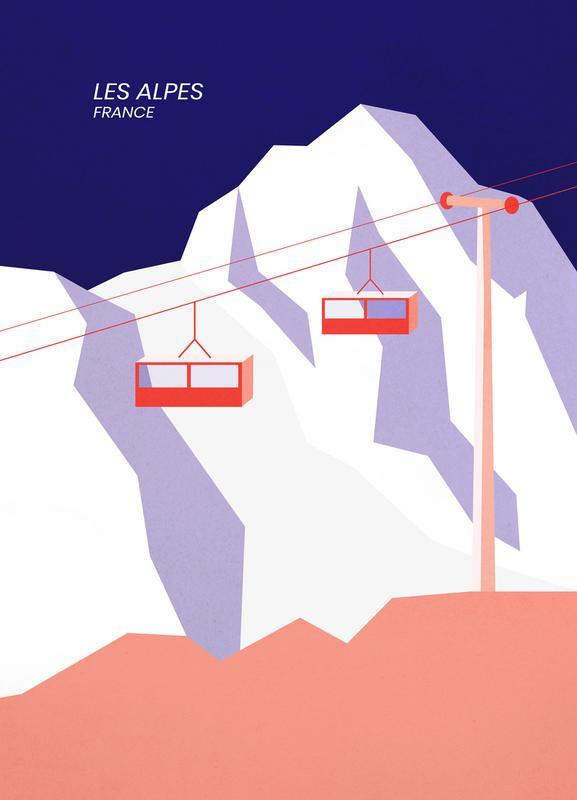 Les Alpes Canvastavla