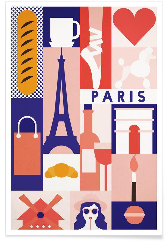 Iconic Paris affiche