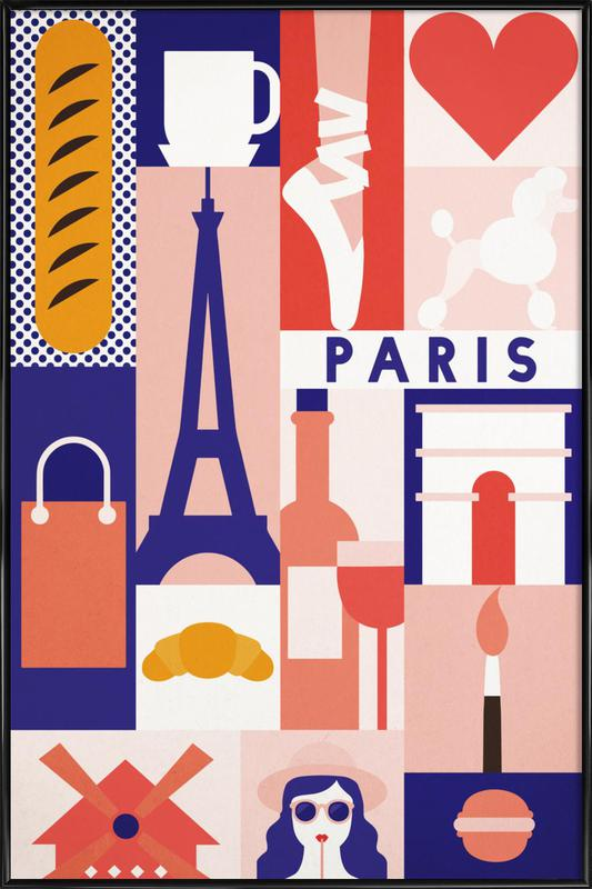 Iconic Paris Framed Poster