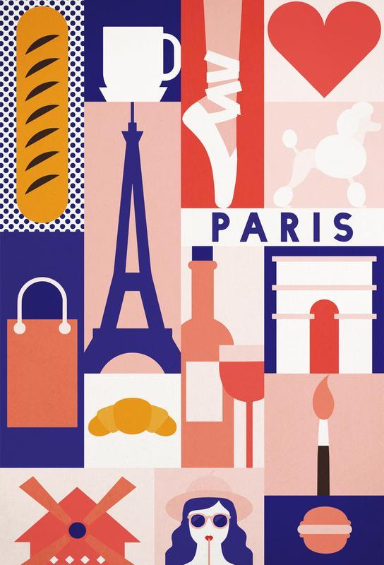 Iconic Paris Aluminium Print