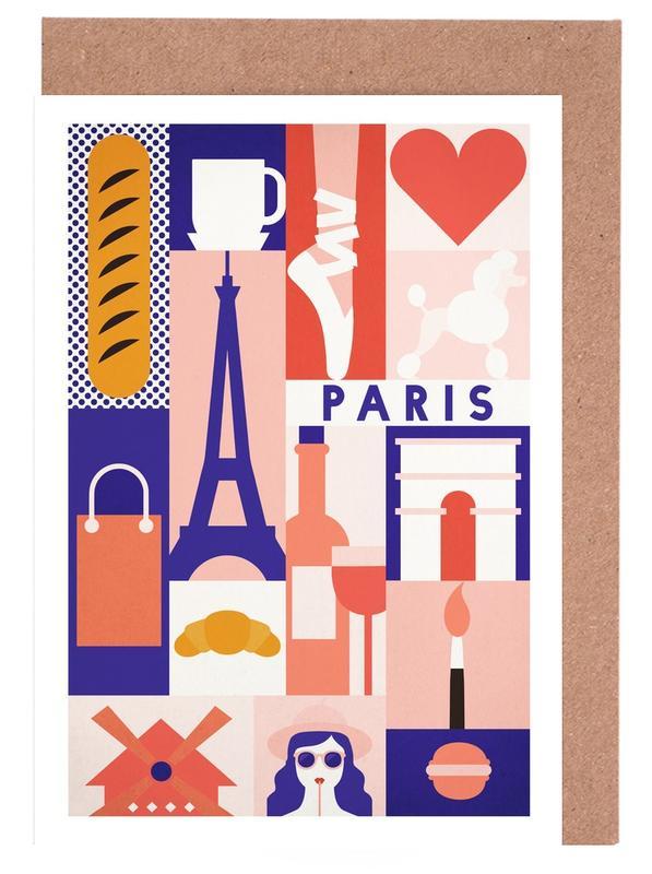 Iconic Paris -Grußkarten-Set
