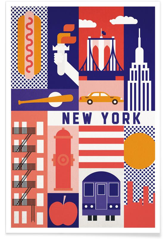 Iconic New York affiche