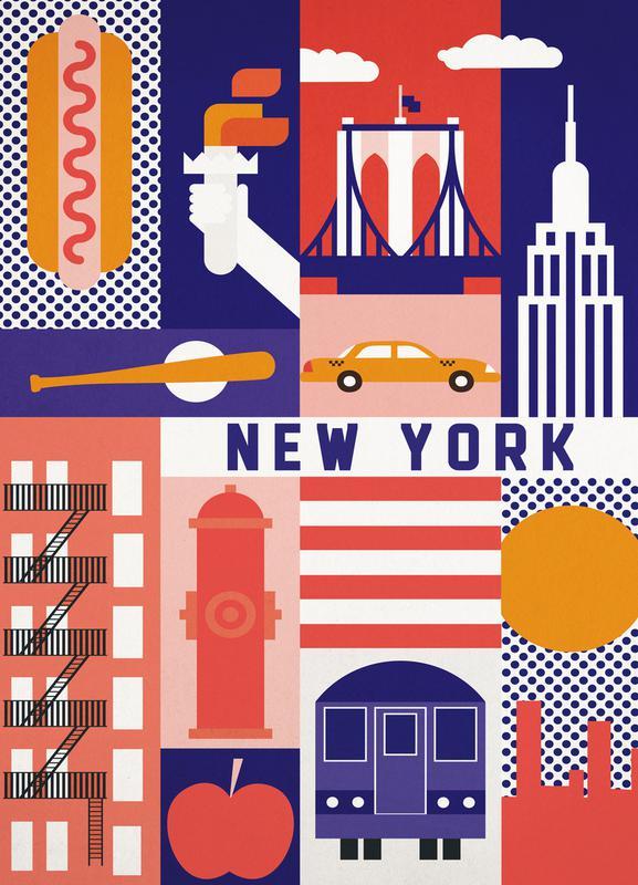 Iconic New York Canvastavla