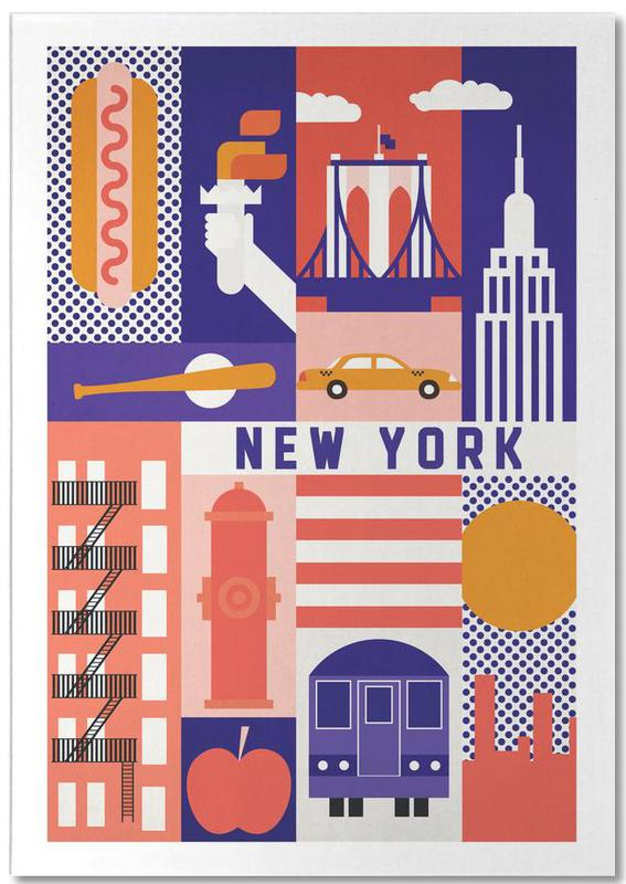 New York, Monuments et vues, Voyages, Iconic New York bloc-notes