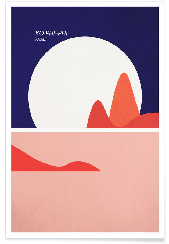 Hav, sø & havlandskab, Abstrakte landskaber, Strande, Ko Phi-Phi Plakat