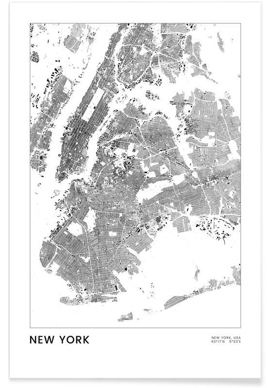 New York, Sort & hvidt, New York Plakat